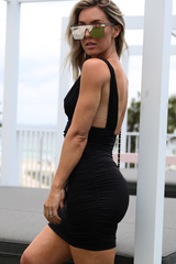 Madison Mini Dress (Black)