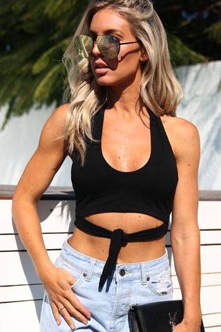 Lolla Halter Top (Black)