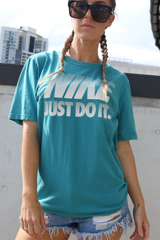 Just Do It Nike Tshirt - Sapphire  (Vintage)