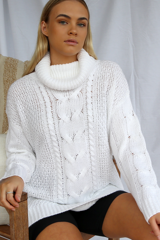 The Cable Sweater (White)
