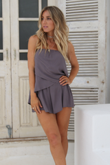 St Lucia Playsuit (Grey)