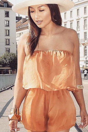 California Playsuit (Burnt Orange)