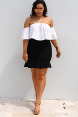 Misha Ruffle Skirt (Black)