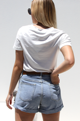 Ryder Cuffed Shorts (Denim)