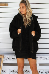 Rhianna Oversized Coat (Black)