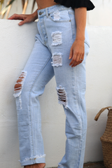 Tammy Girlfriend Jeans (Lite Wash)