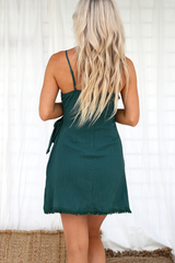 Lisari Wrap Dress  (Emerald Green)