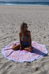 Gretty Rose Round Beach Towel