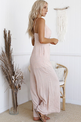Paris cut out Jumpsuit (Pink)