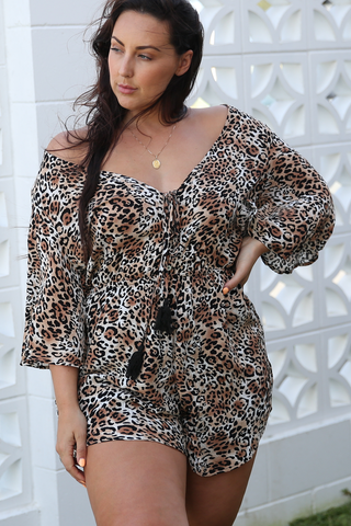 Malena Playsuit (Leopard)