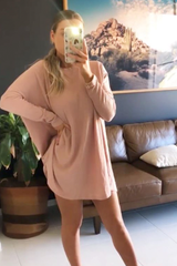 Lucy Ribbed Dress (Pink)