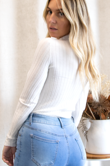 Macy Knit Top  (White)
