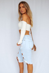 Kendall Crop (White)