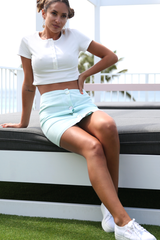 Millie Button Skirt (Mint)
