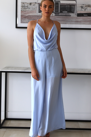 Minka Scoop Jumpsuit (Steel Blue)
