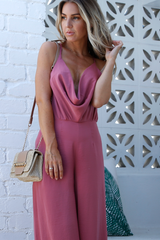 Minka Scoop Jumpsuit (Rose)