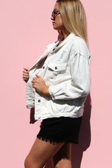 New York Denim Jacket (White)