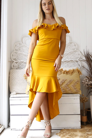 Pandora Corset Dress (Mustard)