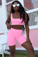Miami Beach  Crop (Hot Pink)