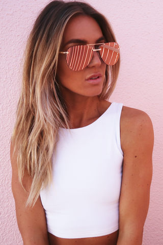 QUAY Playa Sunnies - Rose Gold