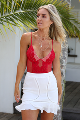Coco Lace Bodysuit (Red)