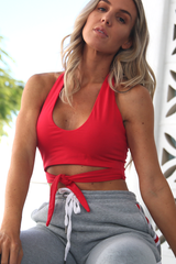 Lolla Halter Top (Red)