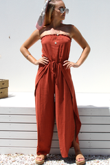 Renza Jumpsuit (Rust)