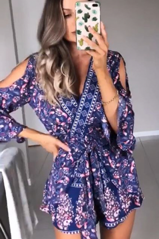 Rustic Playsuit (Navy Print)