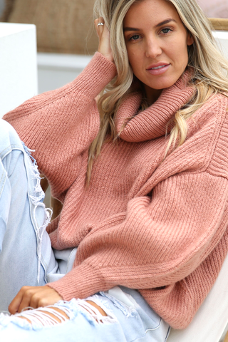 Sammi Roll Neck Knit (Rust)
