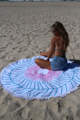 Sammy Leo Round Beach Towel