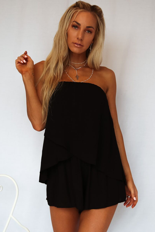 St Lucia Playsuit (Black)