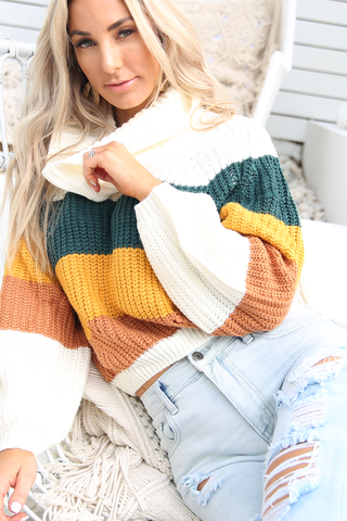 Lily Rose Knit (Olive Stripe)