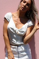 Mila Knot Top (White)