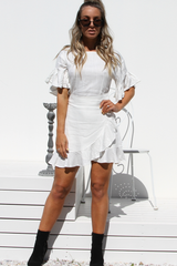 Izzy Wrap Dress (White)