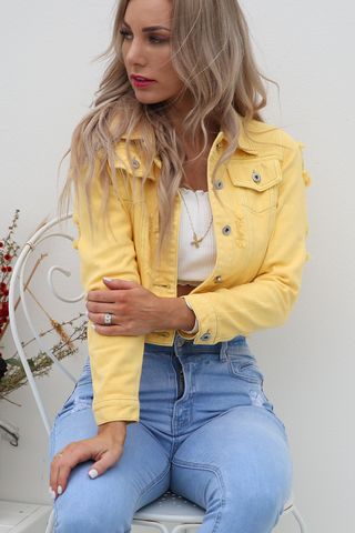 Heidi Denim Jacket (Yellow)
