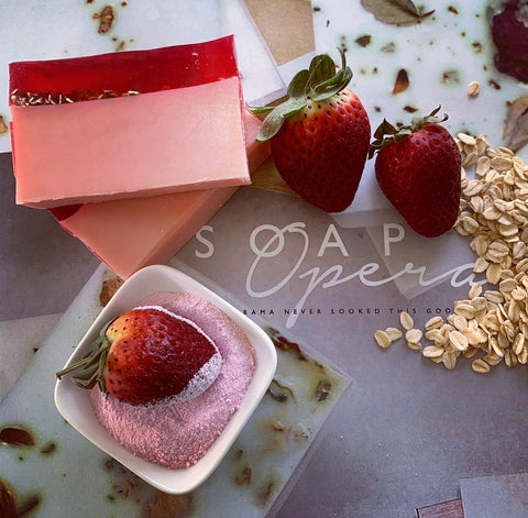 Strawberry Milkshake & Oats Goats Milk Soap 100gm