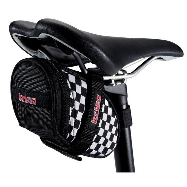 Fast Time checkered Saddle Bag Seat Wedge