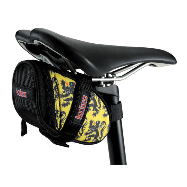 Lion of Flanders Yellow Cycling Saddle Bag Seat Wedge