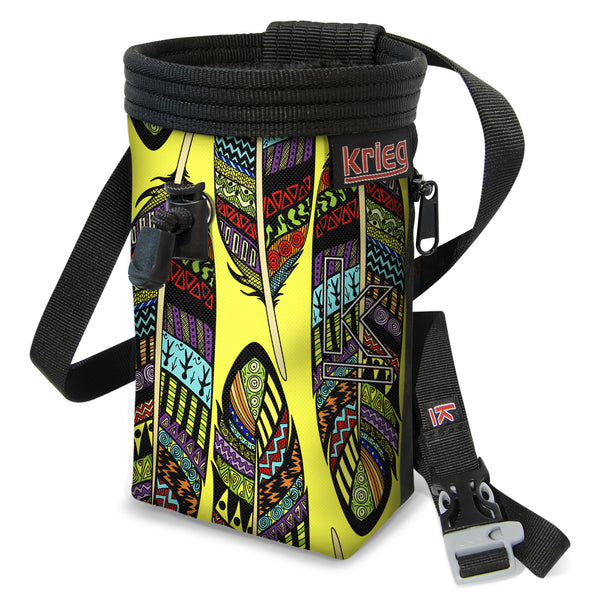 Yellow Feather Climbing Chalk Bag Krieg