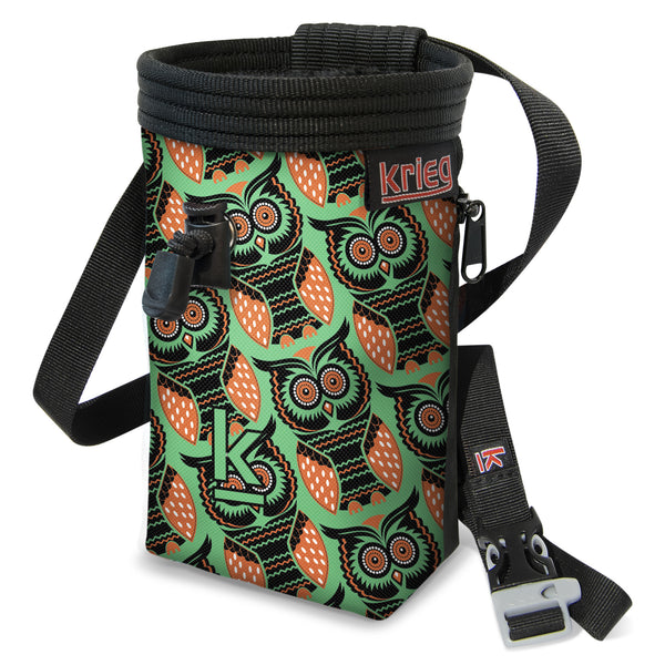 Owl Green Rock Climbing Chalk Bag Krieg