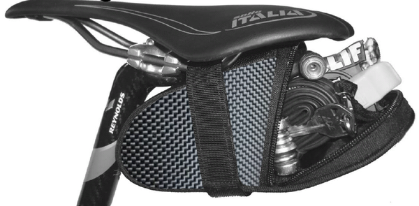 Black Bomber Ballistic Saddle Bag Seat Wedge Krieg