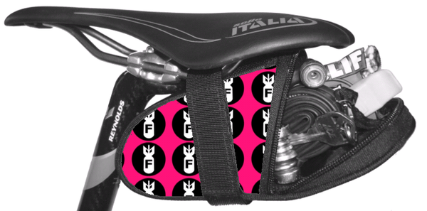 F Bomb Pink Saddle Bag Seat Wedge Krieg