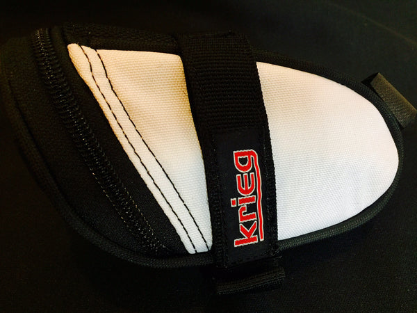 White Cordura Saddle Bag Seat Wedge Krieg