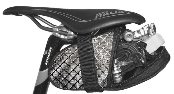 Grey Carbon Ripstop Saddle Bag Seat Wedge Krieg