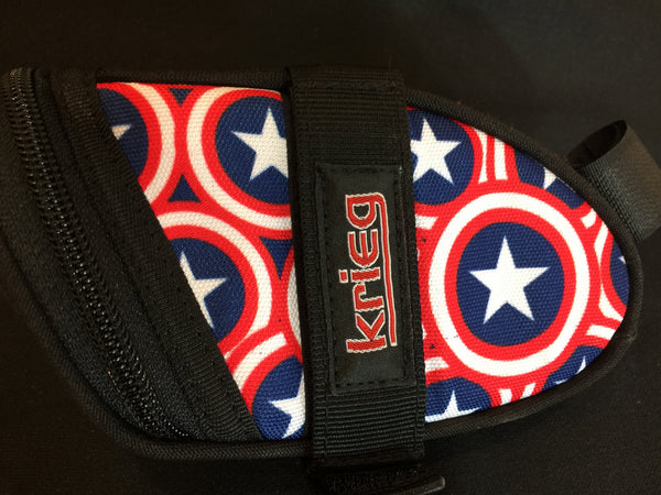 Captain America National Champion Tribute Cycling Bag Seat Wedge Krieg