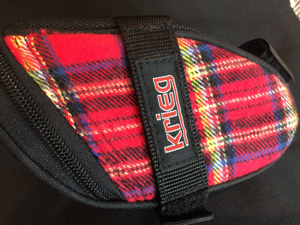 Farmer RED Plaid Krieg Cycling Bag Seat Wedge