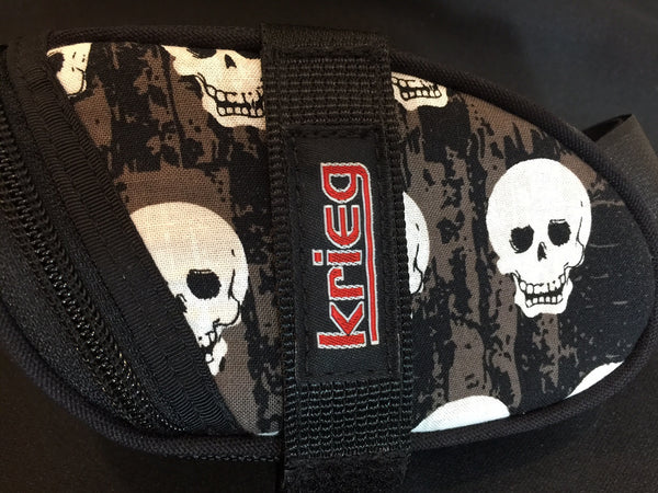 Larger skull Saddle Bag Seat Wedge Krieg