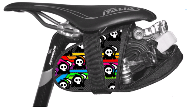 Grim Reeper Bright Stripes Saddle Bag Seat Wedge