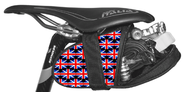 Union Jack UK British Flag Seat Wedge bag Krieg Cycling