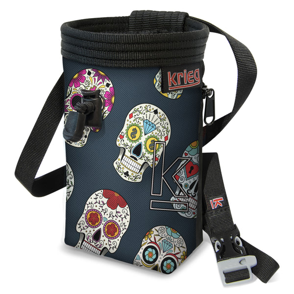 Krieg Day of the Dead Skull Rock Climbing Chalk Bag